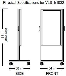 GTI floor standing VLS light unit VLS-1