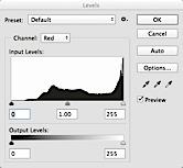 Adobe Photoshop levels palette screenshot