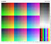 TC9.18 colour management profiling target