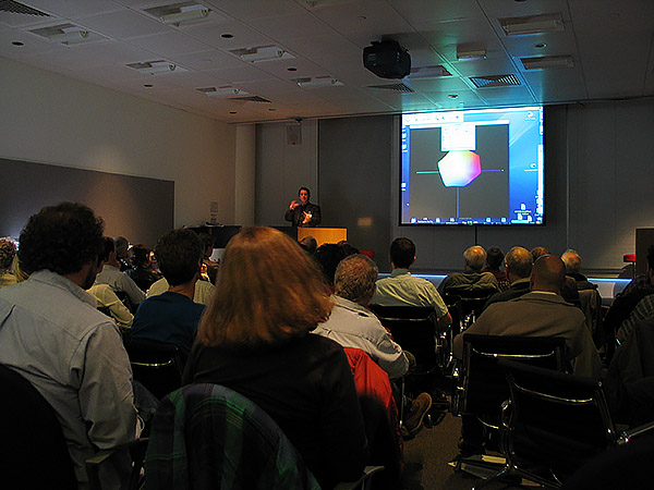 Steve Upton presenting at Apple UK