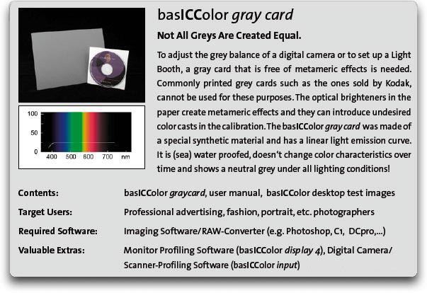 basICColor Greycard Info